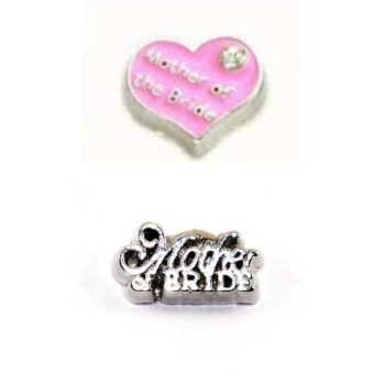 Mother Of The Bride Floating Locket Charm