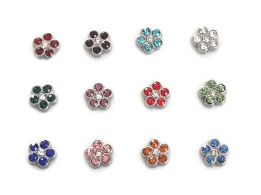 Birthstone Flower Charms For Floating Lockets
