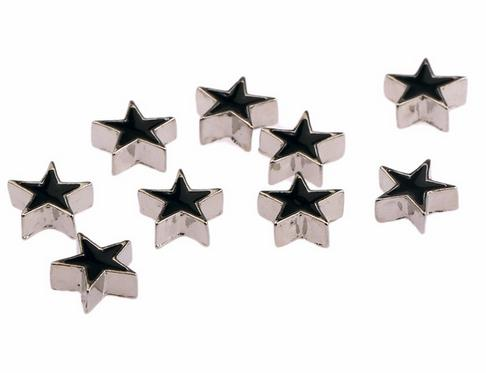 Black Enamel Star Floating Locket Charm