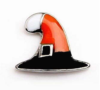 Witches Hat Floating Locket Charm