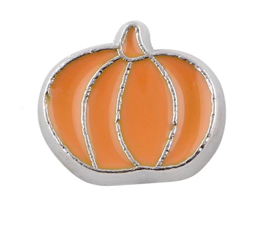 Pumpkin Floating Locket Charm