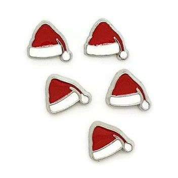 Santa Hat Floating Locket Charm