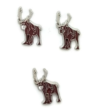 Reindeer Floating Locket Charm
