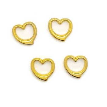 Gold Heart Floating Locket Charm