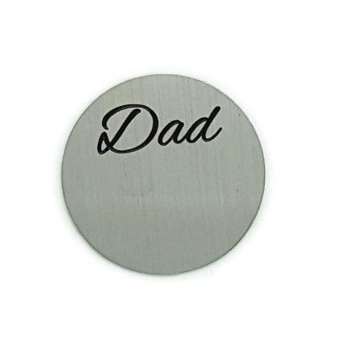 Dad Floating Locket Back Plate