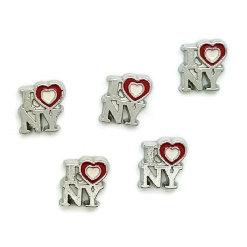 I Heart New York Floating Locket Charm
