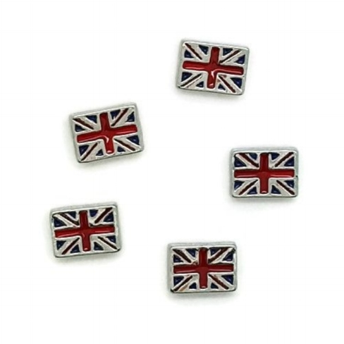 Union Jack British Flag Floating Locket Charm