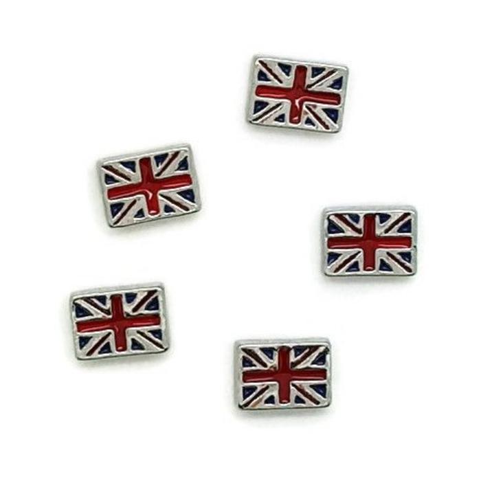 Union Jack British Flag Floating Locket Charm