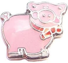 Pig Floating Locket Charm