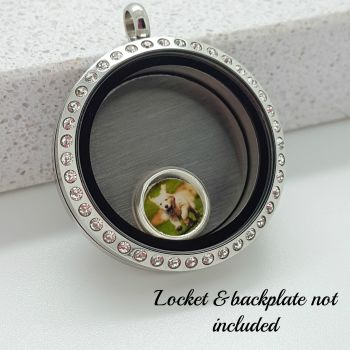Create Your Own Photo Floating Locket Charm 8mm