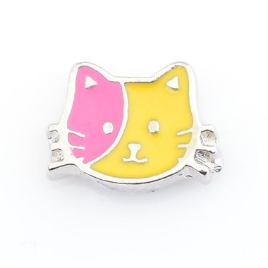Cat Floating Locket Charm