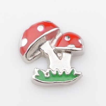 Toadstool Floating Locket Charm