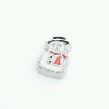 Snowman Floating Locket Charm