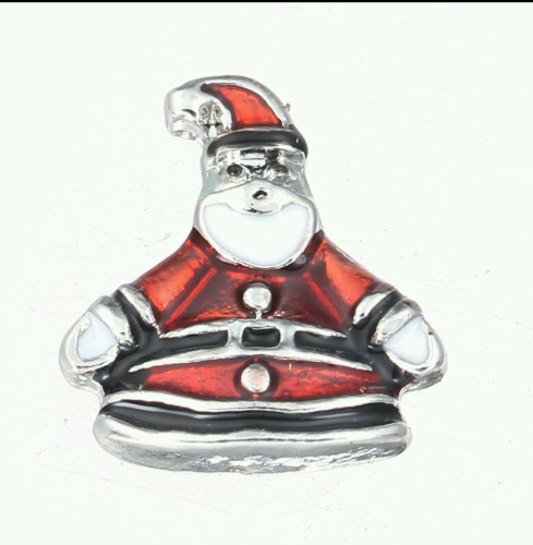 Fat Santa Floating Locket Charm