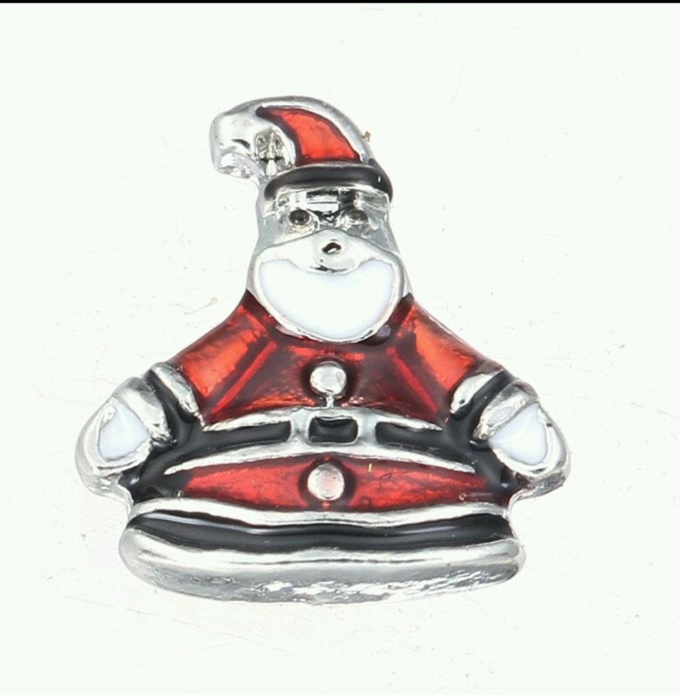Fat Santa Floating Locket Charm