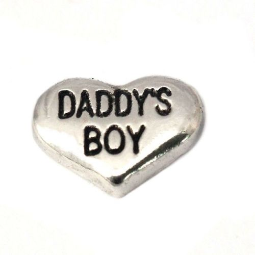 Daddy's Boy Floating Locket Charm