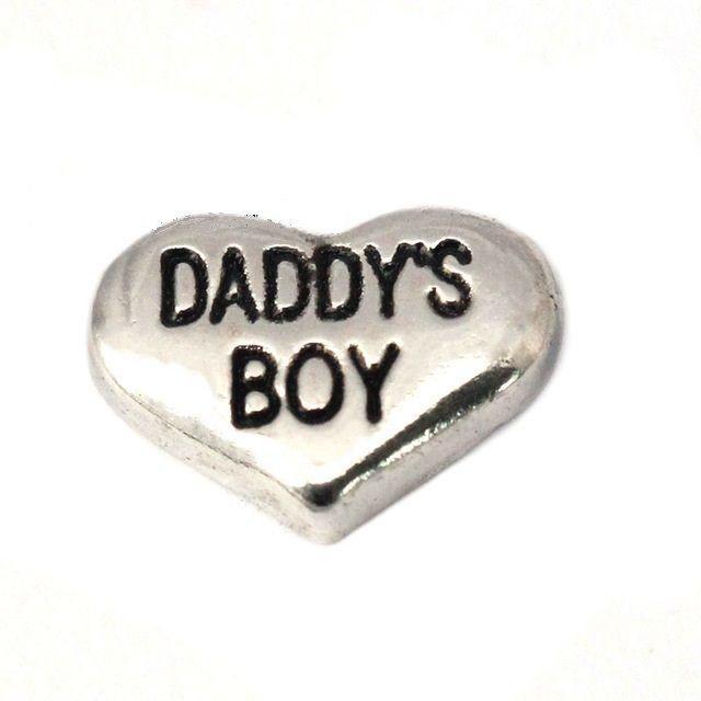 Daddy's Boy Floating Locket Charm