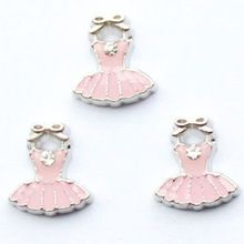 Ballet Dress / Tutu Floating Locket Charm