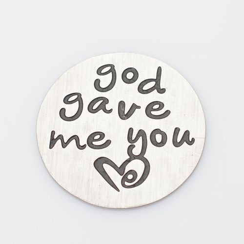 God Gave Me You Floating Locket Back Plate