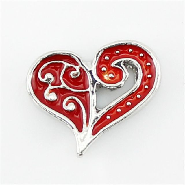 Heart Swirl Floating Locket Charm