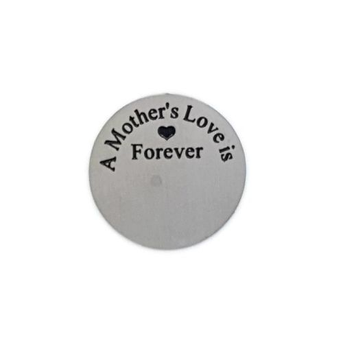 A Mothers Love Is Forever Floating Locket Back Plate