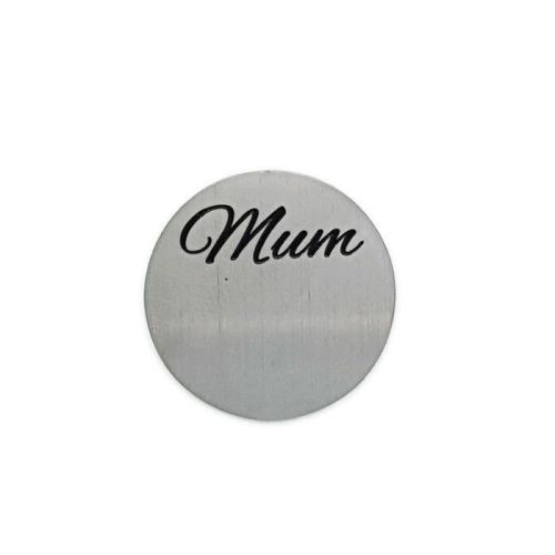 Mum Floating Locket Back Plate