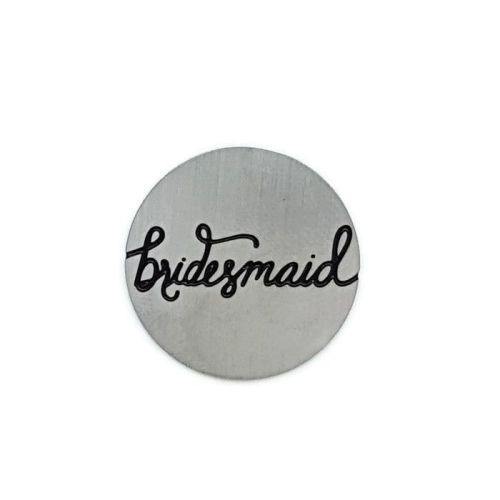 Bridesmaid Floating Locket Back Plate
