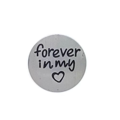 Forever In My Heart Floating Locket Back Plate