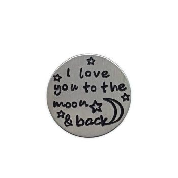 Love You To The Moon Floating Locket Back Plate