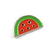 Water Melon Slice Floating Locket Charm