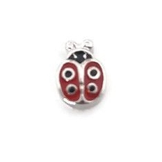 Ladybird Floating Locket Charm