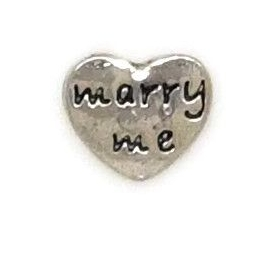 Marry Me Floating Locket Charm