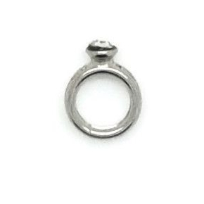 Wedding / Engagement Ring Floating Locket Charm