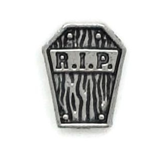 RIP Tomb Stone Floating Locket Charm