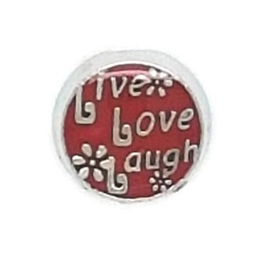 Live, Love, Laugh Floating Locket Charm