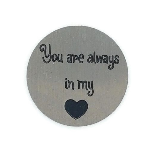 You Are Always In My Heart Floating Locket Back Plate