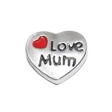 Love Mum Floating Locket Charm
