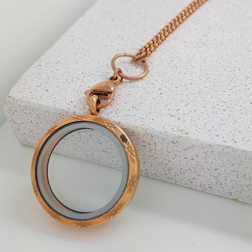 30mm Rose Gold Floating Locket
