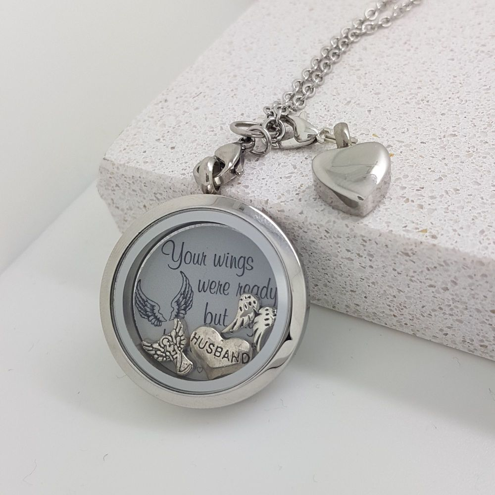 Memorial Locket With Ashes Charm