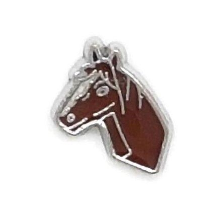 Black Horse Floating Locket Charm