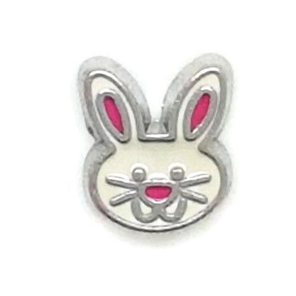 Rabbit Floating Locket Charm