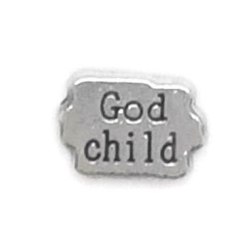 God Child Floating Locket Charm