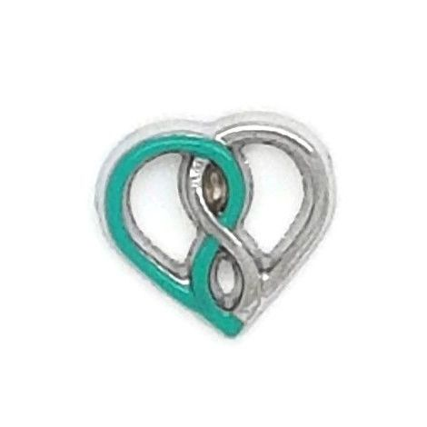 Entwined Hearts Floating Locket Charm