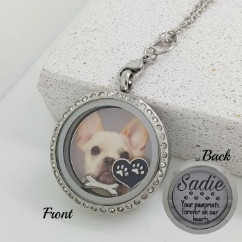 Dog Memorial Floating Locket