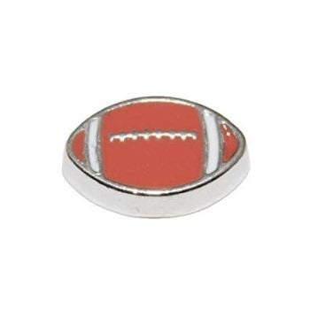 Rugby Ball Floating Locket Charm