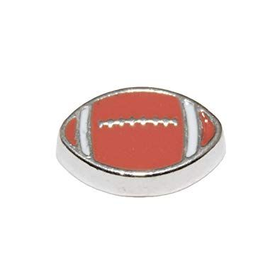 Rugby Ball Floating Locket Charms