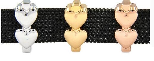 Double Heart Slider Charm