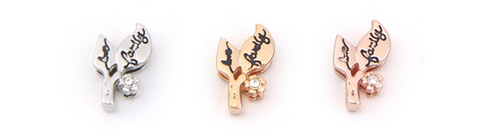 Family Leaf Slider Charm