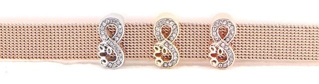 Crystal Love Infinity Slider Charm