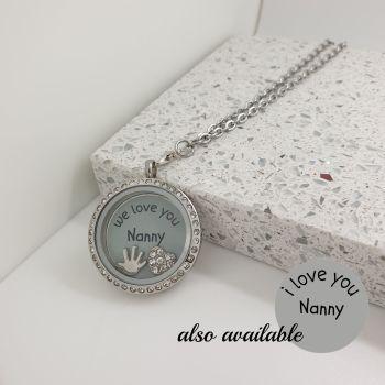 Love Nanny Floating Locket Necklace